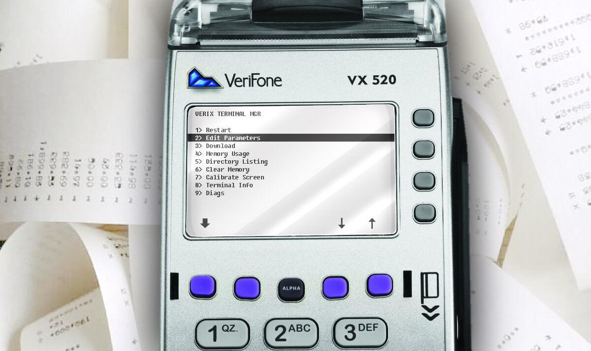 Adjusting the brightness of the VeriFone printer
